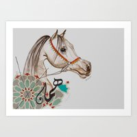 Arbian horse  Art Print