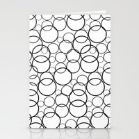 Black And White Bubbles Stationery Cards