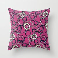 Honolulu hoopla pink Throw Pillow