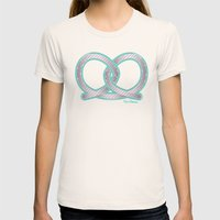 PRETZEL bone Womens Fitted Tee Natural SMALL