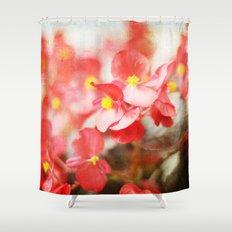Scarlet Begonias Shower Curtain