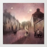 Into Town Canvas Print