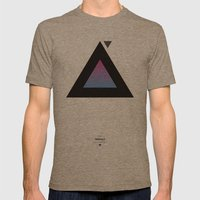 The Triangle Experiment Mens Fitted Tee Tri-Coffee SMALL