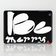 BE MERRY iPad Case