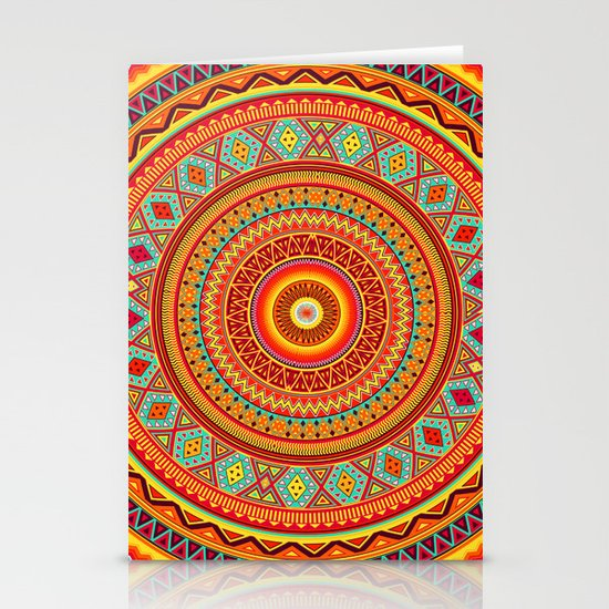 Mandala Aztec Pattern Stationery Card