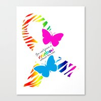 You can't have a Rainbow without the Rain - Awareness Ribbon Canvas Print