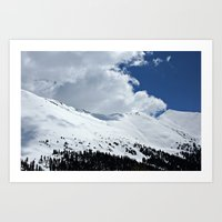 Clouds Over The Divide Art Print
