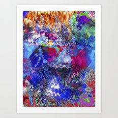 Unicorn boom Art Print