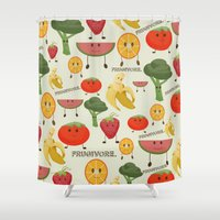Fruity Collage Shower Curtain