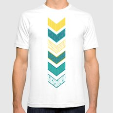 Sunshine Chevron Mens Fitted Tee White SMALL