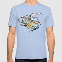 noodlee Mens Fitted Tee Tri-Blue SMALL
