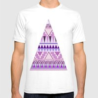 Aztec; Purple Dreams Mens Fitted Tee White SMALL