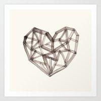 Wooden Heart Art Print