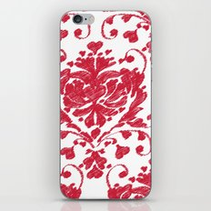 giving hearts giving hope: red damask iPhone & iPod Skin