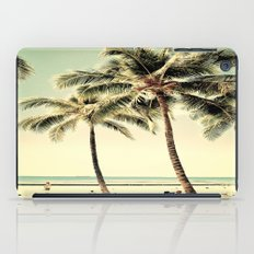 Retro Vintage Palm Tree with Hawaii Summer Sea Beach iPad Case