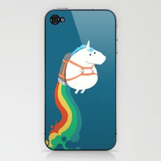 Fat Unicorn On Rainbow J… iPhone & iPod Skin