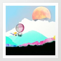 Magic Moon Art Print