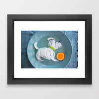 Puppy with ball Framed Art Print