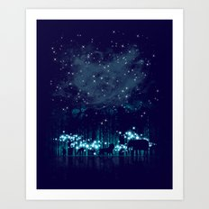 Cosmic Safari Art Print