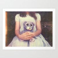 Teddy Bear Polaroid Art Print