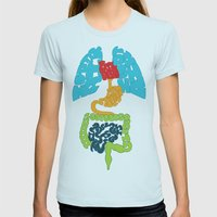 I GOT Womens Fitted Tee Light Blue SMALL