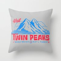 Visit Twin Peaks (hot Pi… Throw Pillow