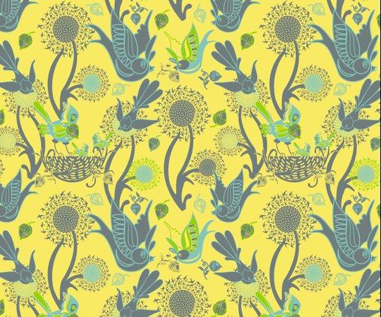 Birds and Acorns Art Print