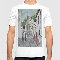 Calle en Ardales Mens Fitted Tee White SMALL