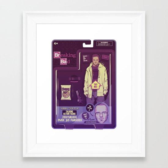 BREAKING BAD ACTION FIGURES - Jesse Framed Art Print