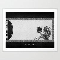 Metroid - The Chozo Geek Line Artly Art Print