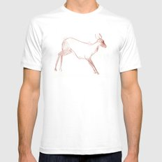 Little Doe Mens Fitted Tee SMALL White
