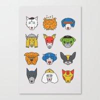 Super Dogs Canvas Print