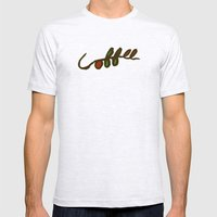 Coffee Branch Mens Fitted Tee Ash Grey SMALL