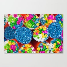 Bouquets of tiny colorful flowers Canvas Print
