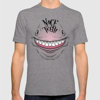 Nice Teeth Mens Fitted Tee Tri-Grey SMALL