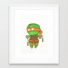 Mini TMNT Mikey  Framed Art Print
