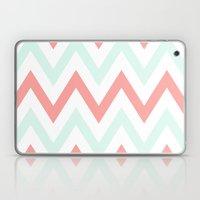 Mint & Coral Chevron Laptop & iPad Skin