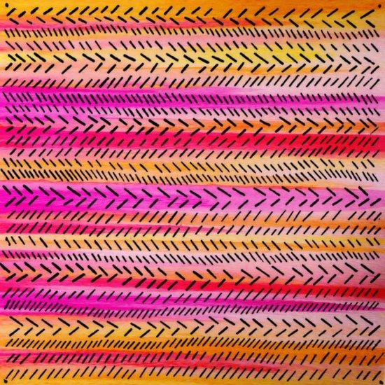 Funky Rhythm 2 (collab with Julia DiSano) Art Print