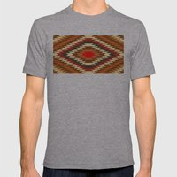 american native traditional ethnic costume motif seamless pattern Mens Fitted Tee Athletic Grey SMALL