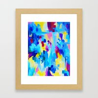 DONT QUOTE ME, Revisited - Bold Colorful Blue Pink Abstract Acrylic Painting Gift Art Home Decor  Framed Art Print