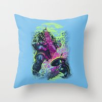 Magnysseus vs the Cyclops: X-Odyssey Throw Pillow
