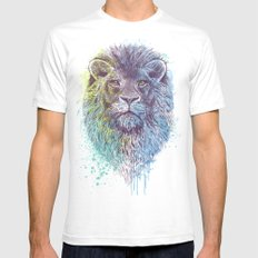 Lion King White Mens Fitted Tee SMALL