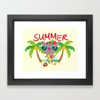 Hello, Summer Framed Art Print