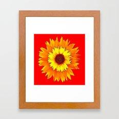 Red Design Of Yellow Sun… Framed Art Print