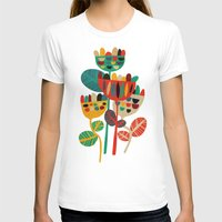 retro T-shirts featuring Wild Flowers by Picomodi