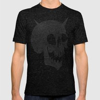 Skull Party Mens Fitted Tee Tri-Black SMALL