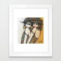 LES DEMOISELLES Framed Art Print