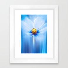 MIDNIGHT BLUE Framed Art Print