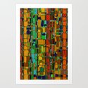 Abstract Geometric Fabric Art Print