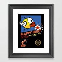 Flappy Hunt Framed Art Print